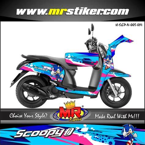 Keranjang Scoopy scoopy new sonic techno stiker motor striping motor