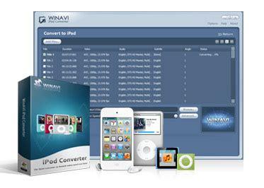format video ipod winavi ipod converter convert any video format to ipod
