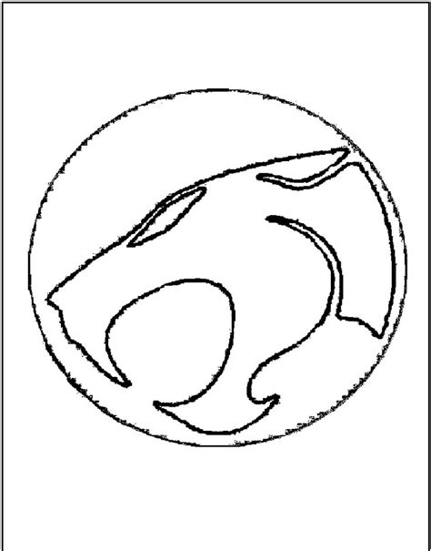 Thundercats Logo Brand Coloring Page Crafty Craftiness Thundercats Coloring Pages