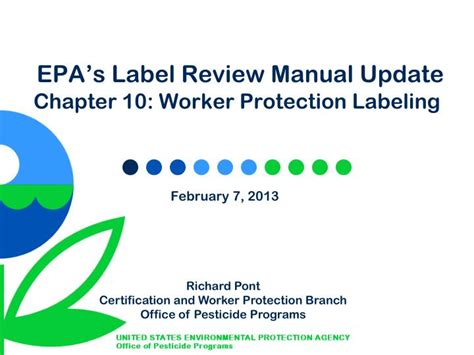 epa s ppt epa s label review manual update chapter 10 worker