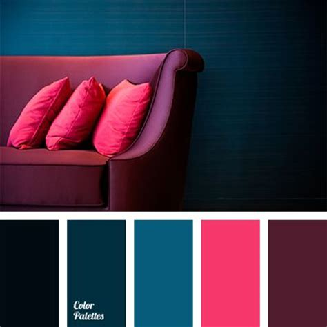 contrasting color to pink bright crimson and burgundy make a contrast with blue