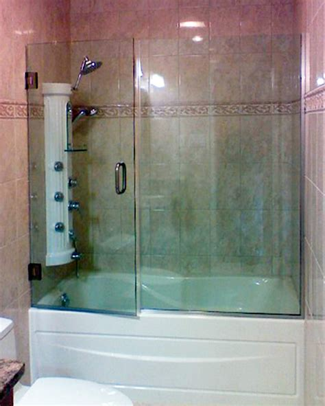bathtub with glass enclosure bathtub enclosures shower doors of dallas