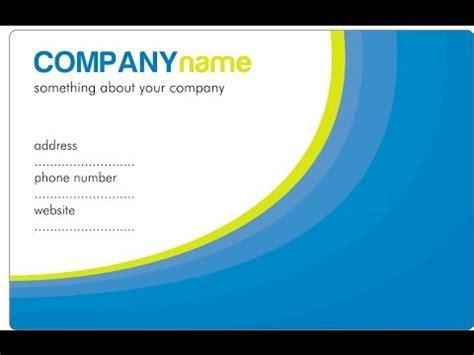 design id card dengan corel draw video cara membuat desain kartu nama dengan coreldraw