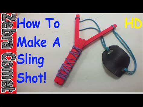 How To Make A Paper Slingshot That Shoots - how to make a mini crossbow popsicle sticks with tr