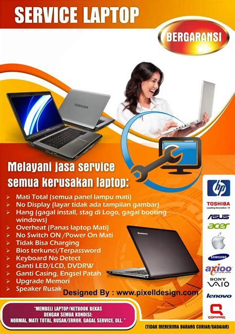 contoh desain brosur iklan contoh desain brosur service komputer desain dan contoh