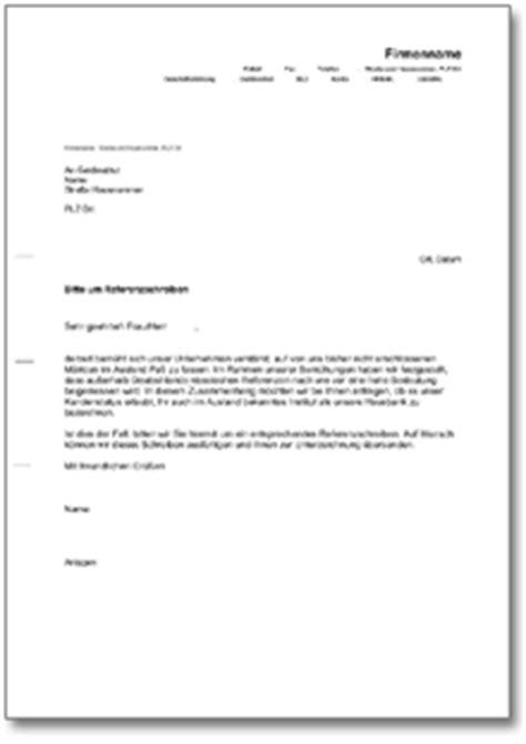 Schweiz Brief Schicken Musterbrief An Die Bank Bitte Um Referenzschreiben De Musterbrief