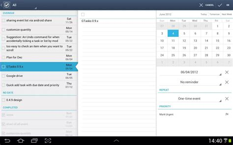 tasks android gtasks l organisation des taches avec android