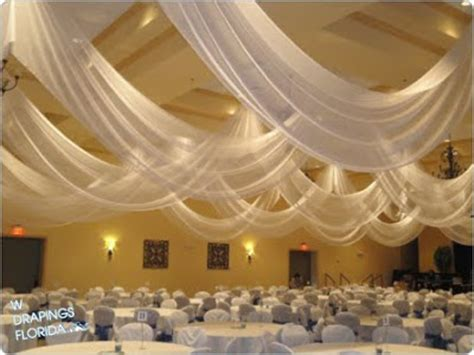 ceiling fabric draping w drapings florida ceiling drapings and wedding chiffon