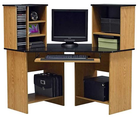 Oak Corner Computer Desks For Home Ameriwood Oak Corner Computer Desk With Hutch Ideas Home Interior Exterior