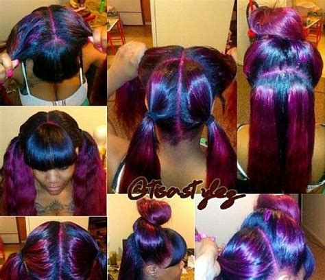 weave hairstyles with purple tips purple vixen weave hair beauty pinterest vixen