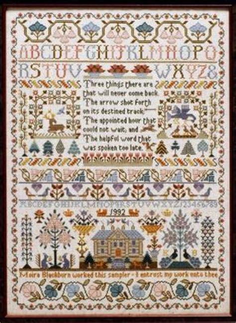 Country Cottage Cross Stitch Cross Stitch Patterns From Moira Blackburn Samplers