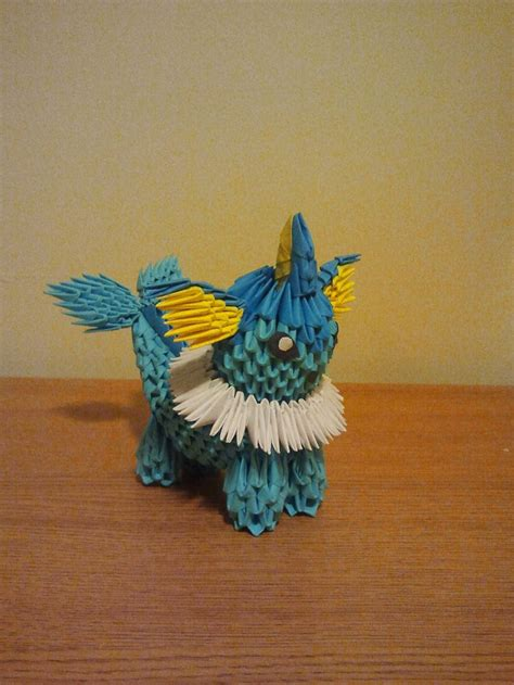How To Make A 3d Origami Pikachu - vaporeon 3d origami origami