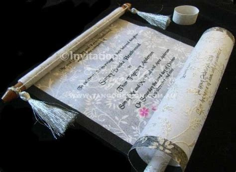 Paper Scroll Wedding Invitations by Best 126 Weddings Theme Weddings Jevel
