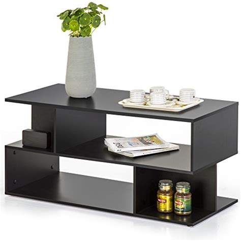 Coffee Table Bookshelf Homury Modern Coffee Table Tv Stand Bookcase Bookshelf Black Forrealdesigns Forrealdesigns