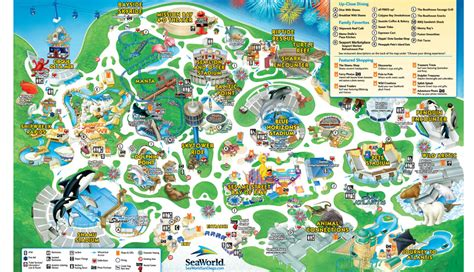 Where To Buy Sea World Gift Cards - park map seaworld san diego