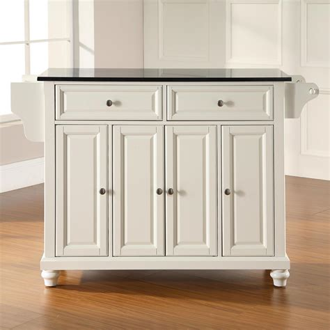 white kitchen island with black granite top cambridge solid black granite top kitchen island white