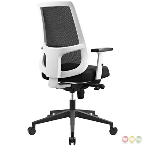mesh back office chair with lumbar support ergonomic mesh back office chair w white frame