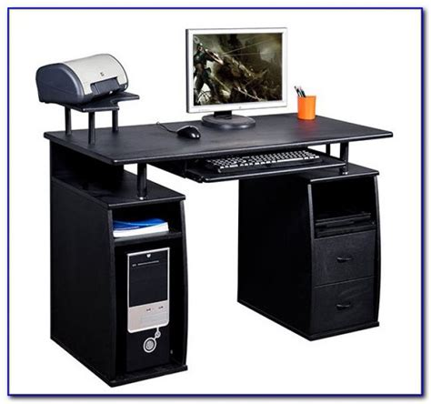 desk with printer shelf computer desk with hutch and printer shelf desk home