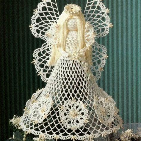 angel christmas tree topper pattern angels crochet crochet seasonal spirit angel tree topper