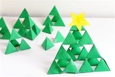 sierpinski fractal triangle holiday math art for kids