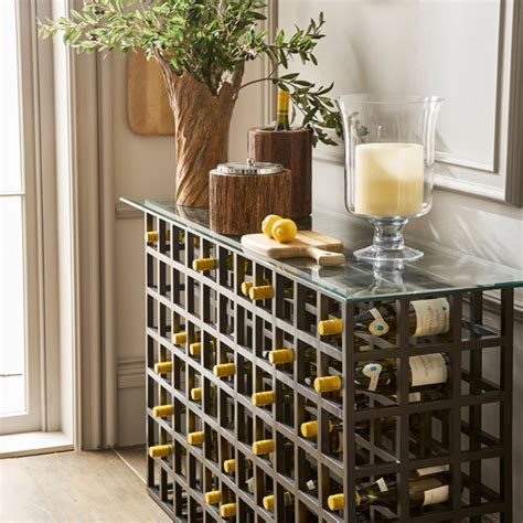 Console Table With Wine Rack Cosmecol Wine Rack Sofa Table