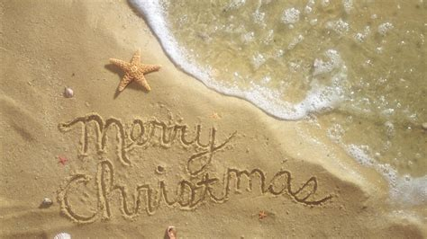 christmas beach wallpapers wallpaper cave