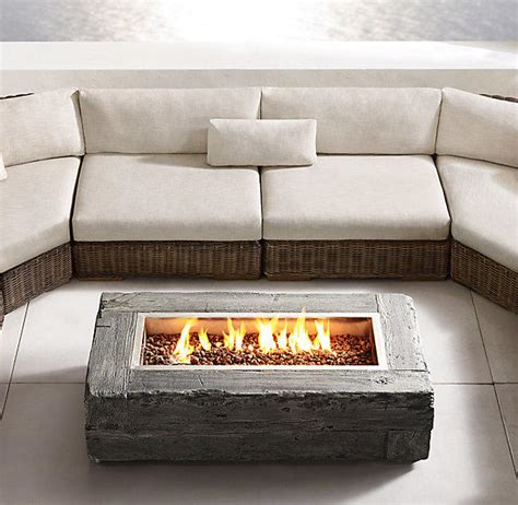 Restoration Hardware Firepit Woodgrain Gas Table From Restoration Hardware Home