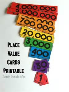 printable place value cards teach beside me
