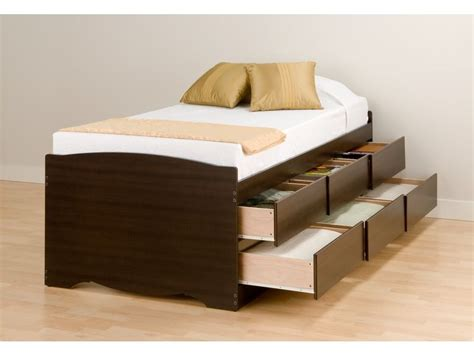 twin bed with drawers plans for twin size platform bed with drawers quick