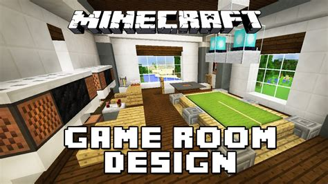house design building games minecraft tutorial how to make furniture for a game room modern house build ep 28 youtube