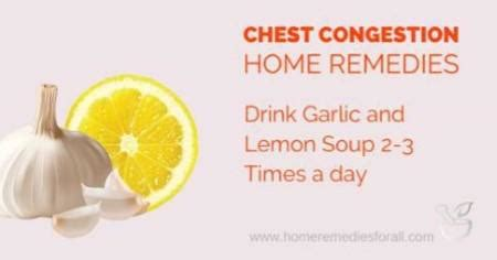Chest Congestion Home Remedies by 5 Home Remedies For Chest Congestion