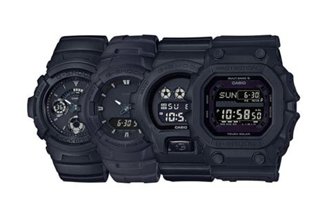 G Shock Series Black g shock japan quot basic black quot series hypebeast