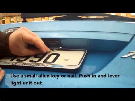 boat registration replacement fiesta rear number plate light replace youtube