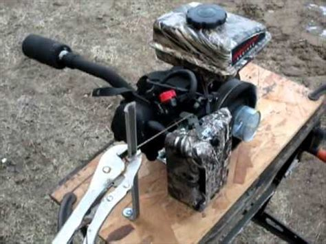 layout boat mud motor wing whacker ii mud motor and layout boat build part 4