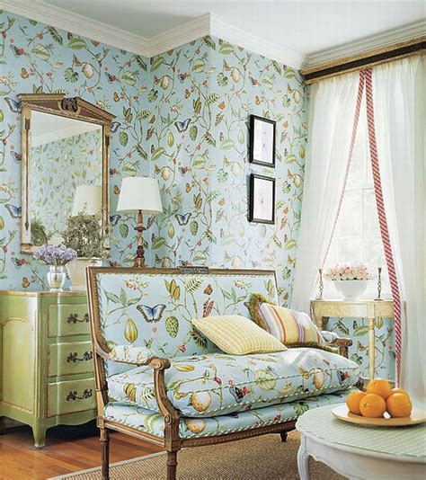 fabrics and home interiors design interior french country green floral wall and