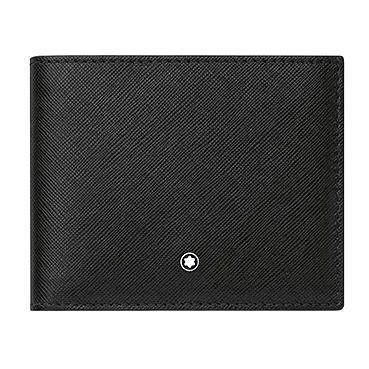 montblanc black leather  card slot wallet ernest jones