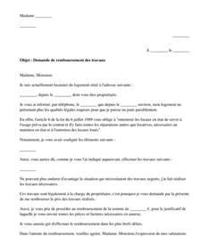 Exemple Lettre De Garantie Des Travaux Lettre Au Bailleur De Demande De Remboursement Mod 232 Le