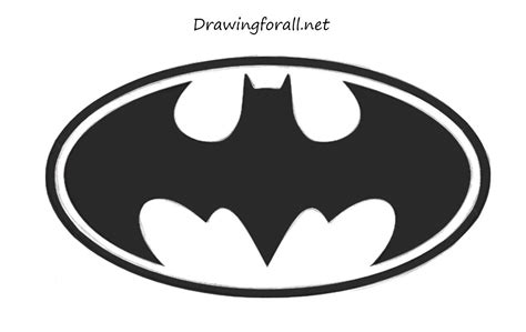 how to draw a easy how to draw batman s logo drawingforall net
