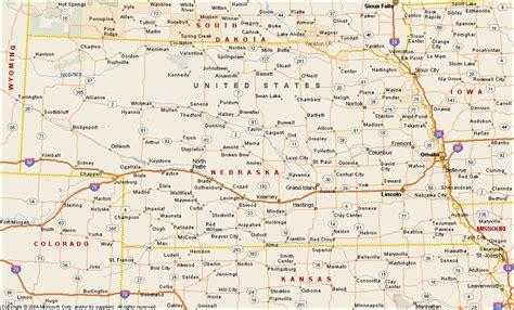 map us nebraska nebraska map