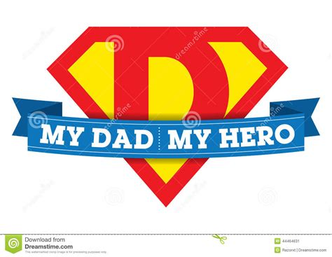 My Dad My Hero T shirt Stock Vector   Image: 44464631