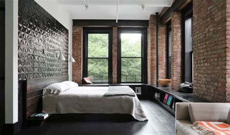 loft style bedroom bringing new york loft style into the bedroom