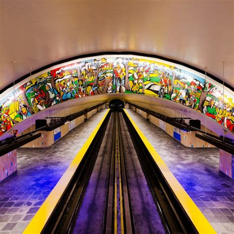 Perspecitve In A Tornoto Subway Station by Gorgeous Photographs Of Subway Stations Taken From The