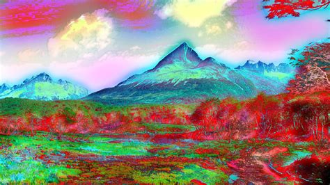lsd backgrounds wallpaper abstract lsd bright tundra plateau trippy