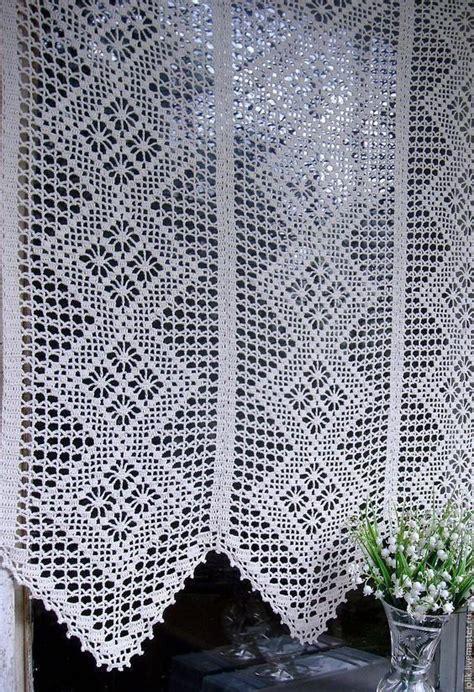 cortinas de macrame  croche images  pinterest cortinas crochet crochet curtains