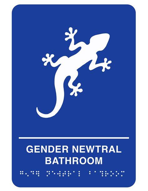 bathroom signs gender neutral