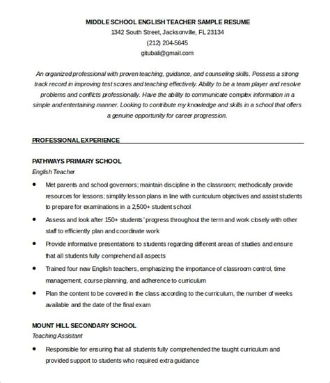 english resume template resume builder