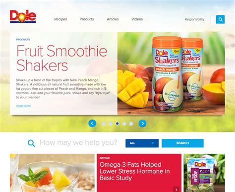 new year dole dole food company rings in new year with website refresh
