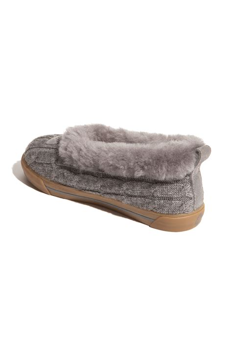knitting slippers ugg rylan knit slippers in black grey lyst