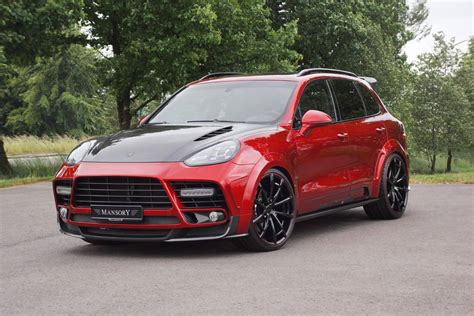 red porsche 2016 mansory 2016 porsche cayenne turbo is a carbon and red