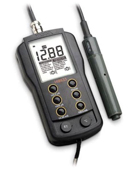 Portable Conductivity Meter Range 0 To 19990 Hi 86304 portable multi range conductivity meter hi 8633n